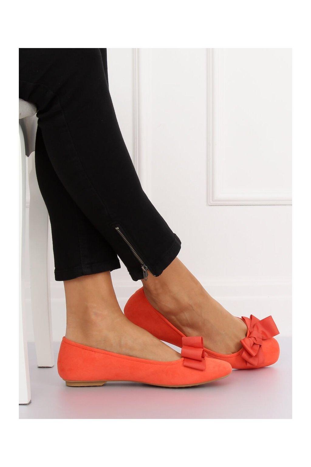 Dámske baleríny oranžové 3173