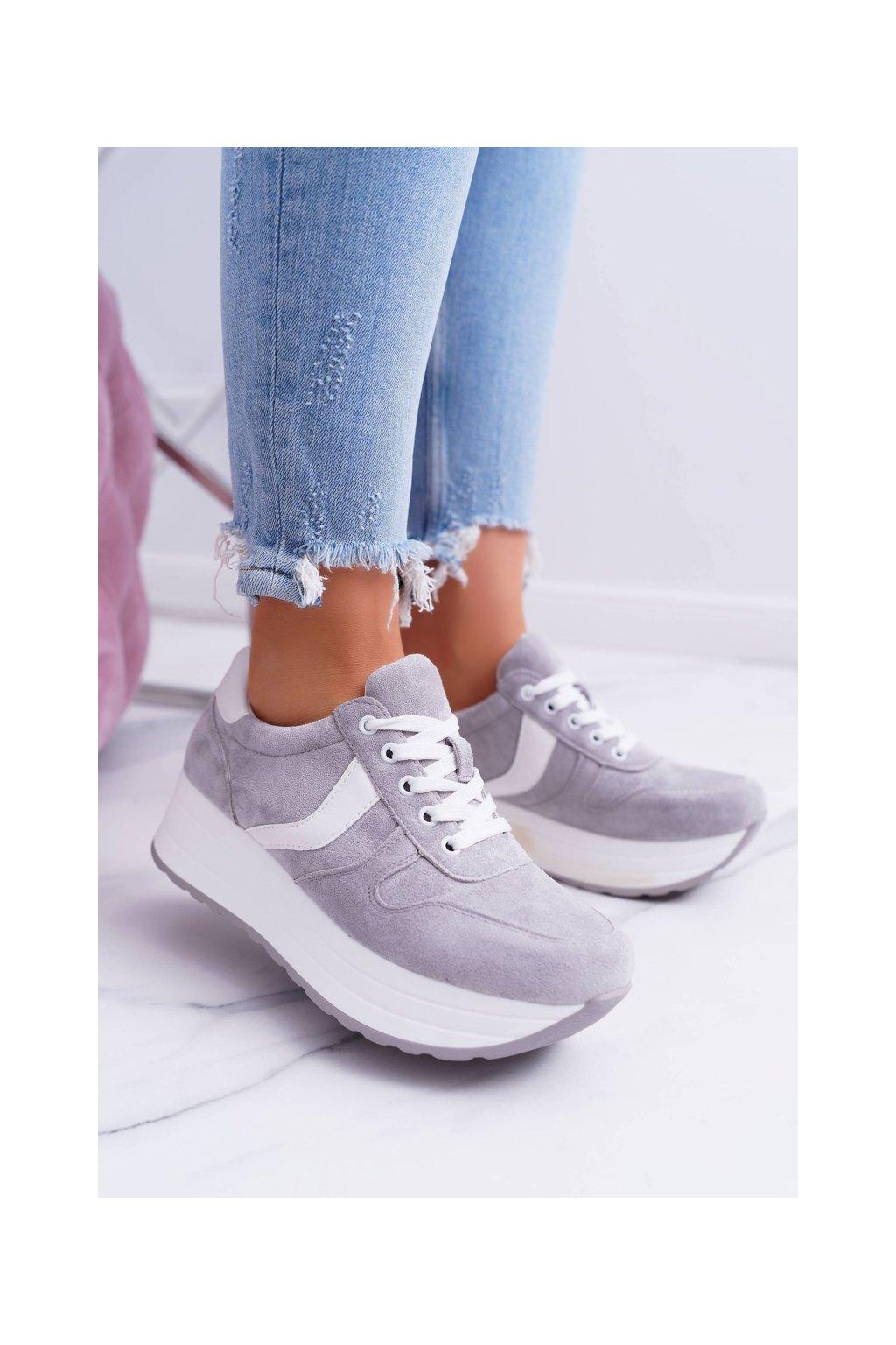 športová Dámske sivé topánky SportFreak