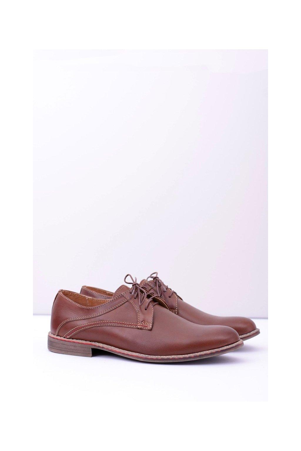 Pánske poltopánky farba hnedá kód obuvi 095 BROWN