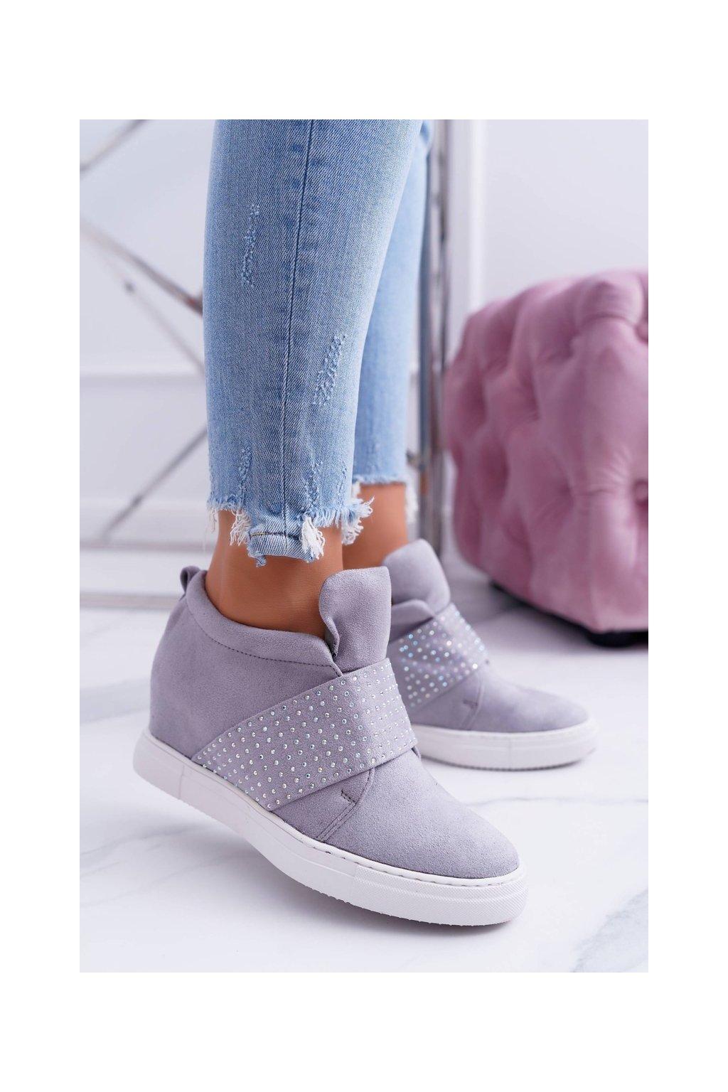 Dámske tenisky farba sivá kód obuvi XW37332 GREY