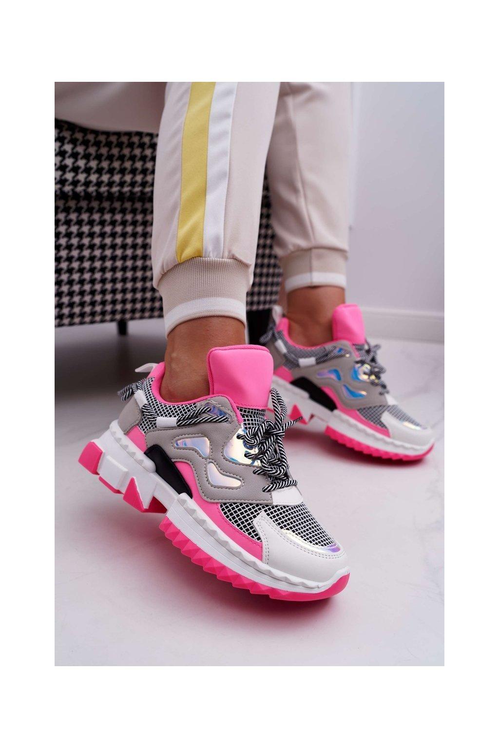 Dámska športová obuv, Barevné části Fuchsie Colored