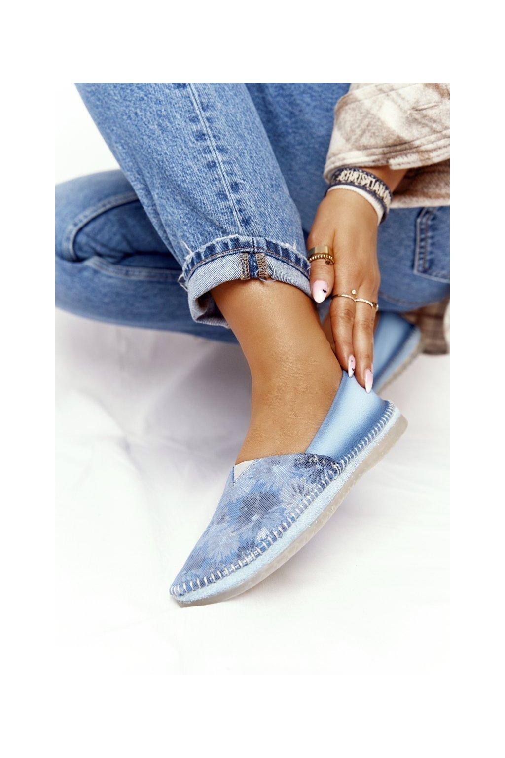 Dámske balerínky farba modrá kód obuvi 01930-72/00-0 JASNY NIEBIESKI