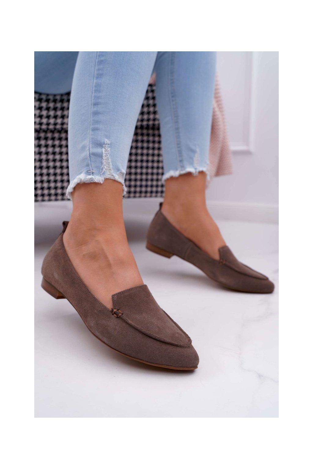 Dámske mokasíny farba hnedá kód obuvi 2462 CAPP/W