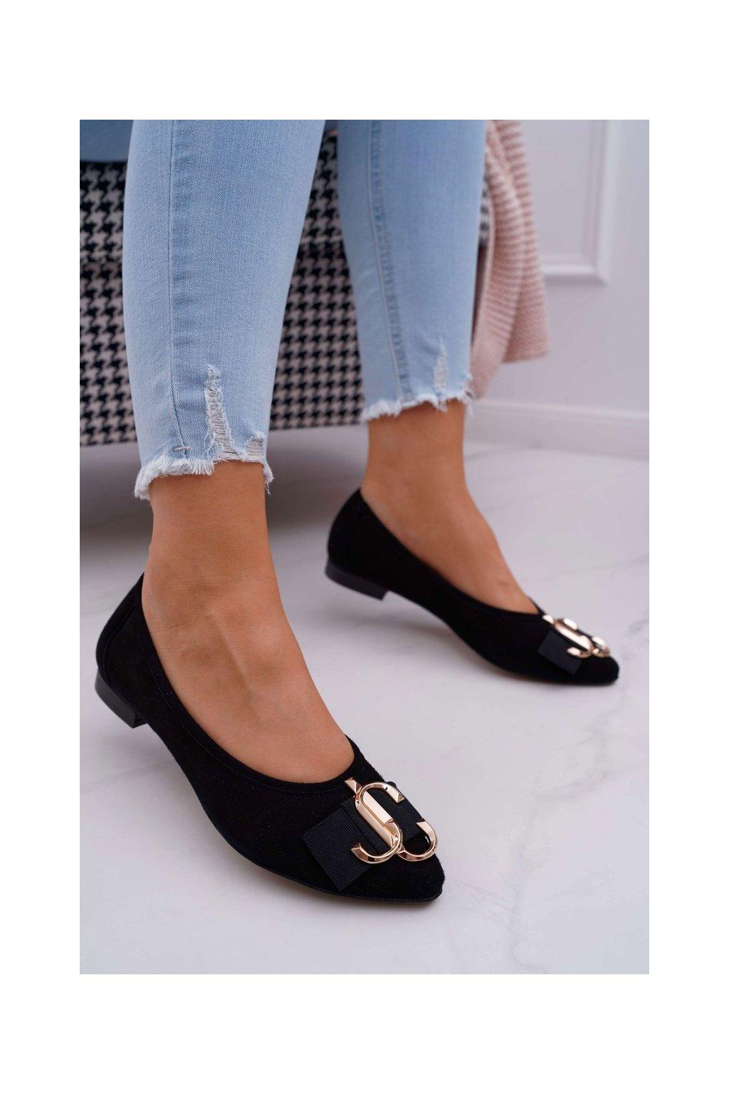 Dámske balerínky farba čierna kód obuvi 2464 CZARNY/Z