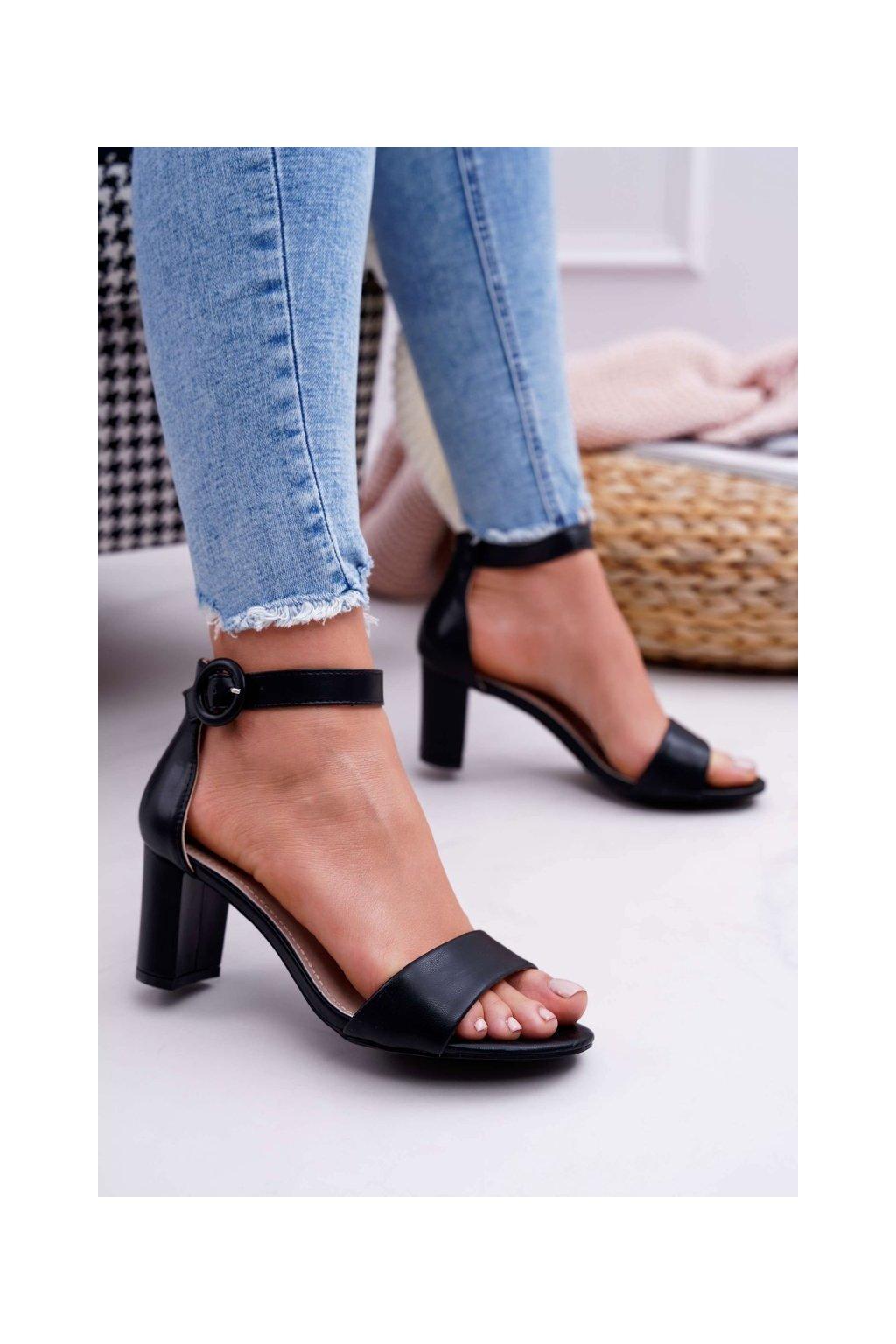Dámske Sandále na podpätku čierne Lexi