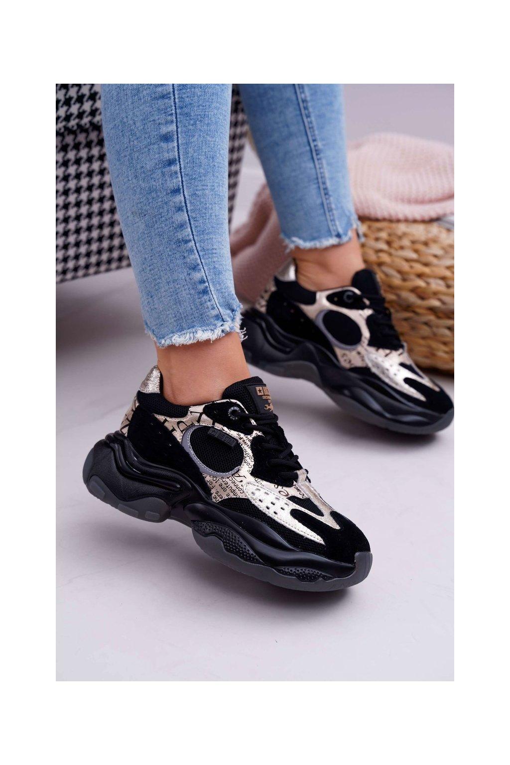 Dámska športová obuv B. Star od Daniel Lopez čierna zlatá FF274A524