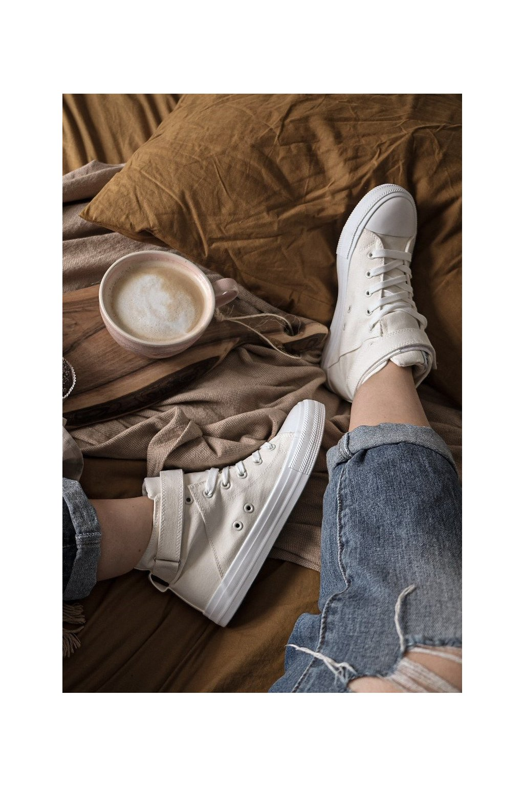 Dámske tenisky farba biela kód obuvi V274541 WHITE