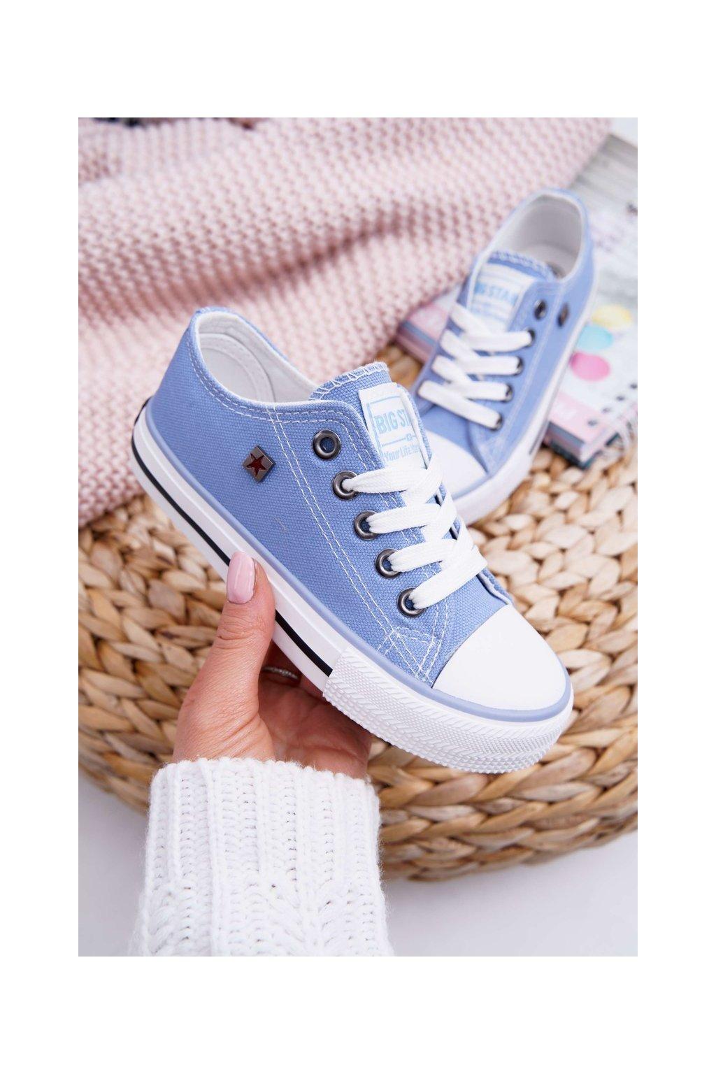 Detské tenisky farba modrá kód obuvi FF374203 BLUE