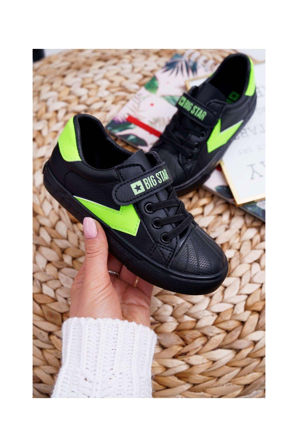 Detské tenisky farba čierna kód obuvi FF374121 BLK