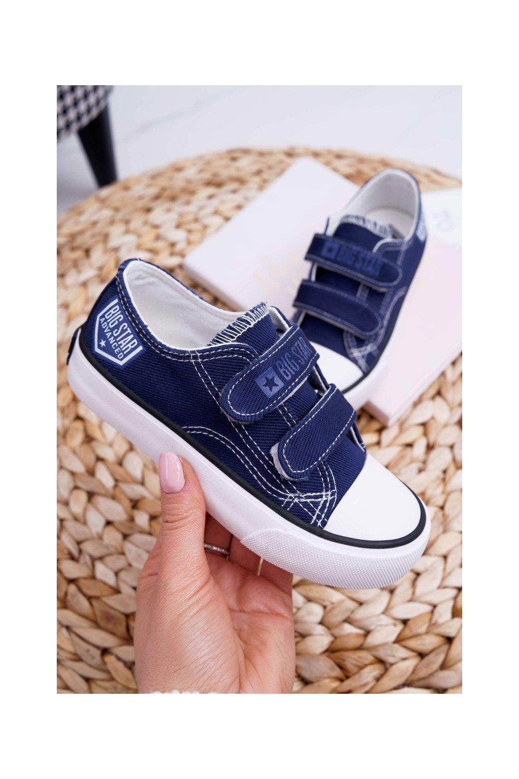 Detské tenisky farba modrá kód obuvi FF374064 NAVY