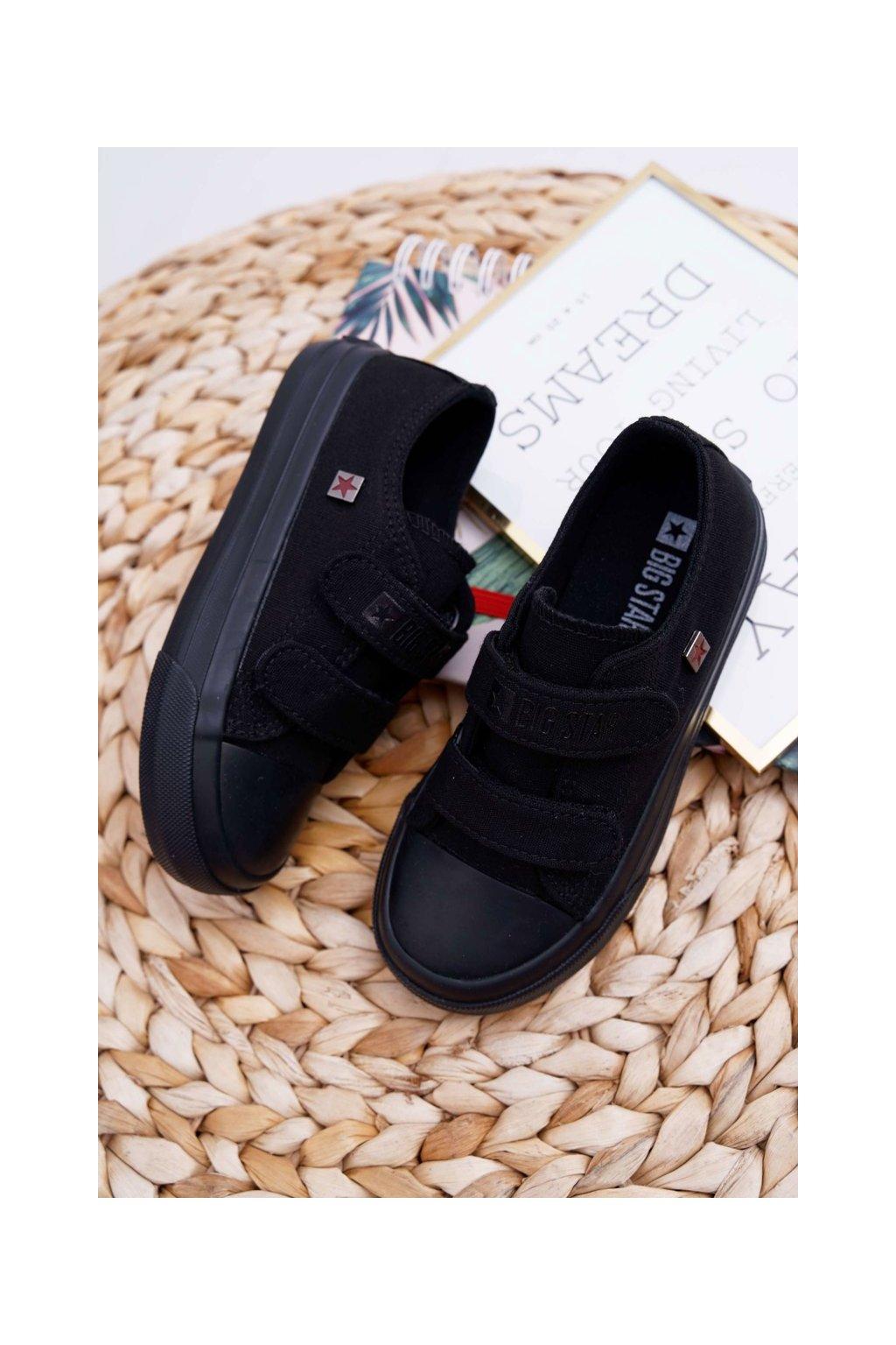 Detské tenisky farba čierna kód obuvi FF374095 BLK