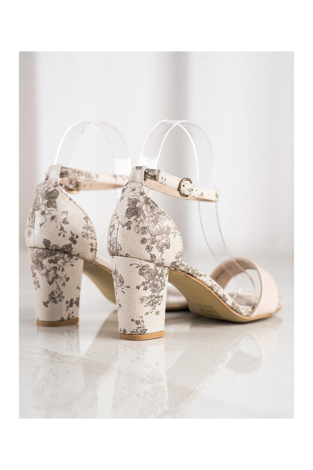 Hnedé sandále na hrubom podpätku Goodin kod GD-FL281BE
