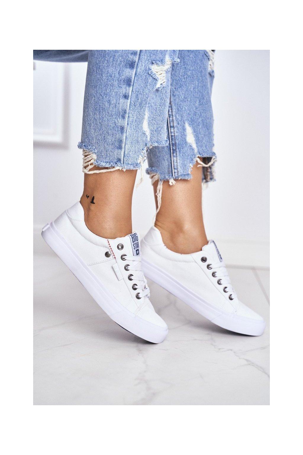Dámske tenisky farba biela kód obuvi AA274511 WHITE