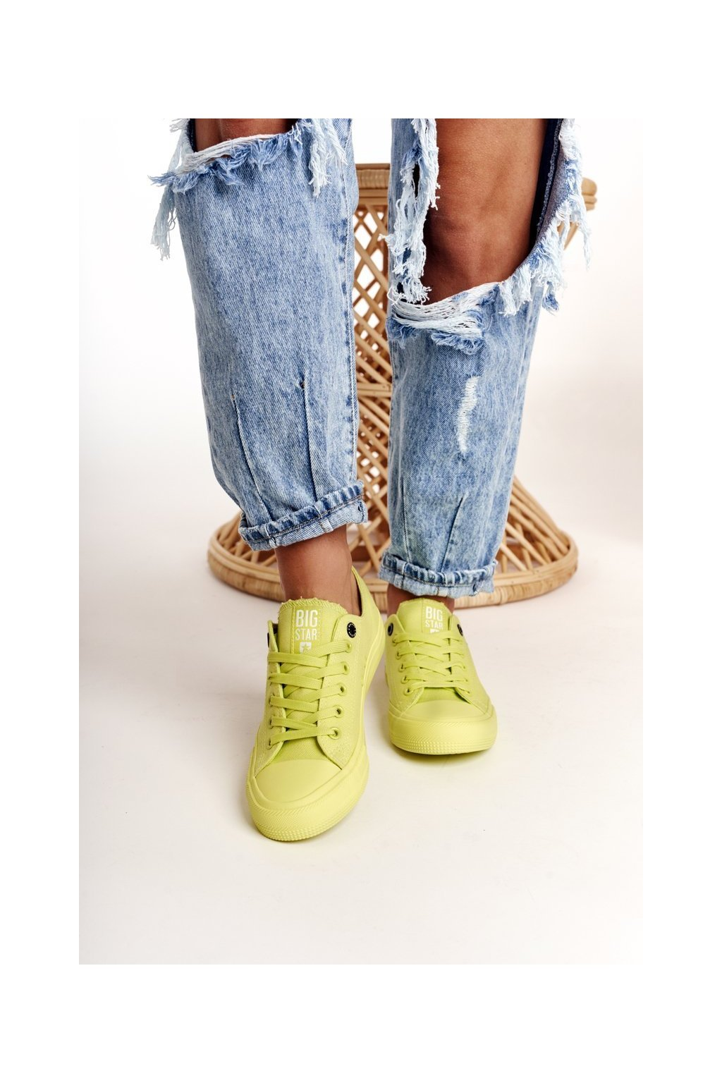 Dámske tenisky farba zelená kód obuvi AA274012 LIME
