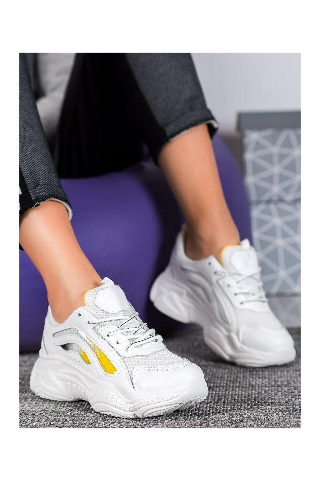 Biele tenisky Shelovet kod G-237Y