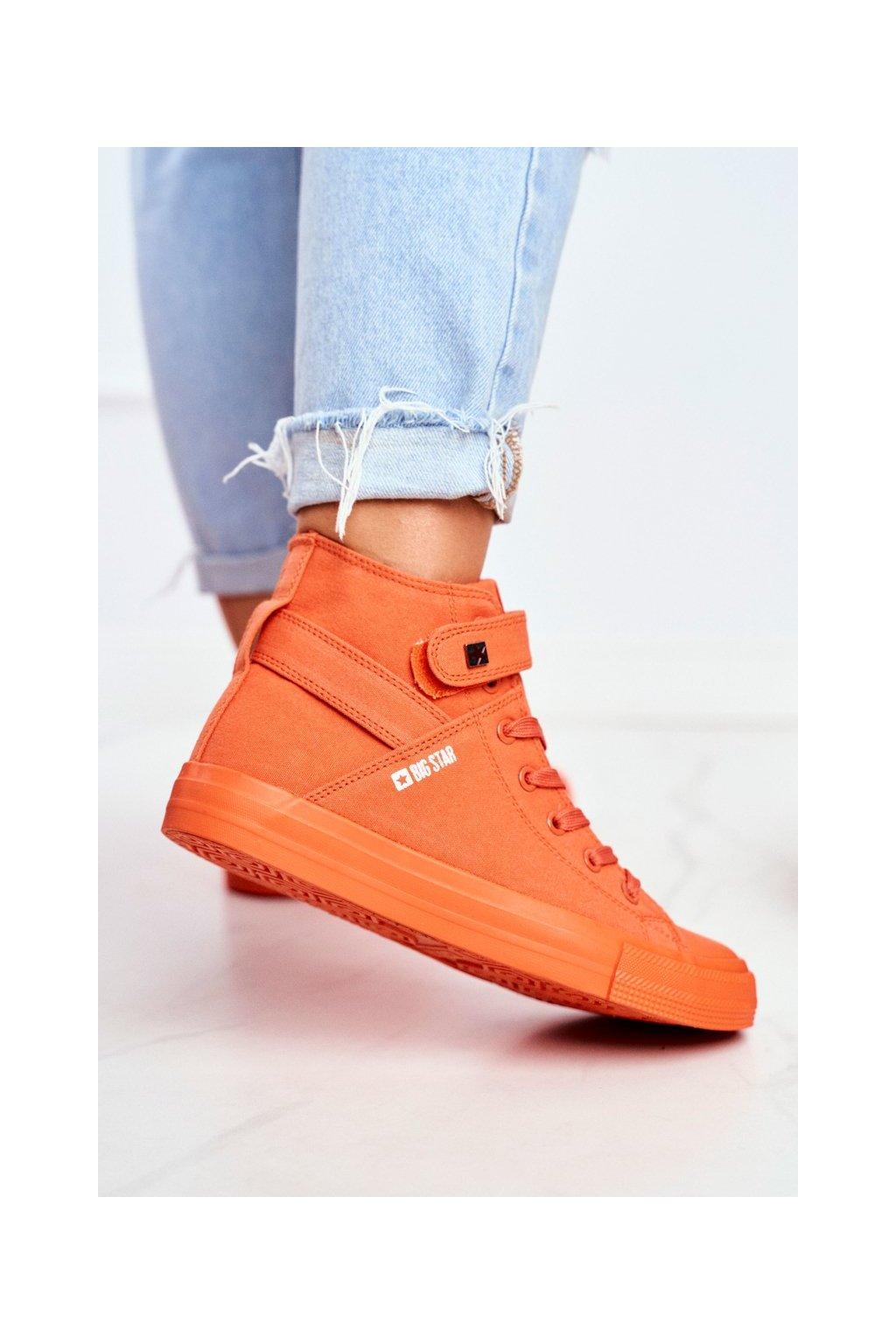 Dámske tenisky farba oranžová kód obuvi FF274583 ORANGE
