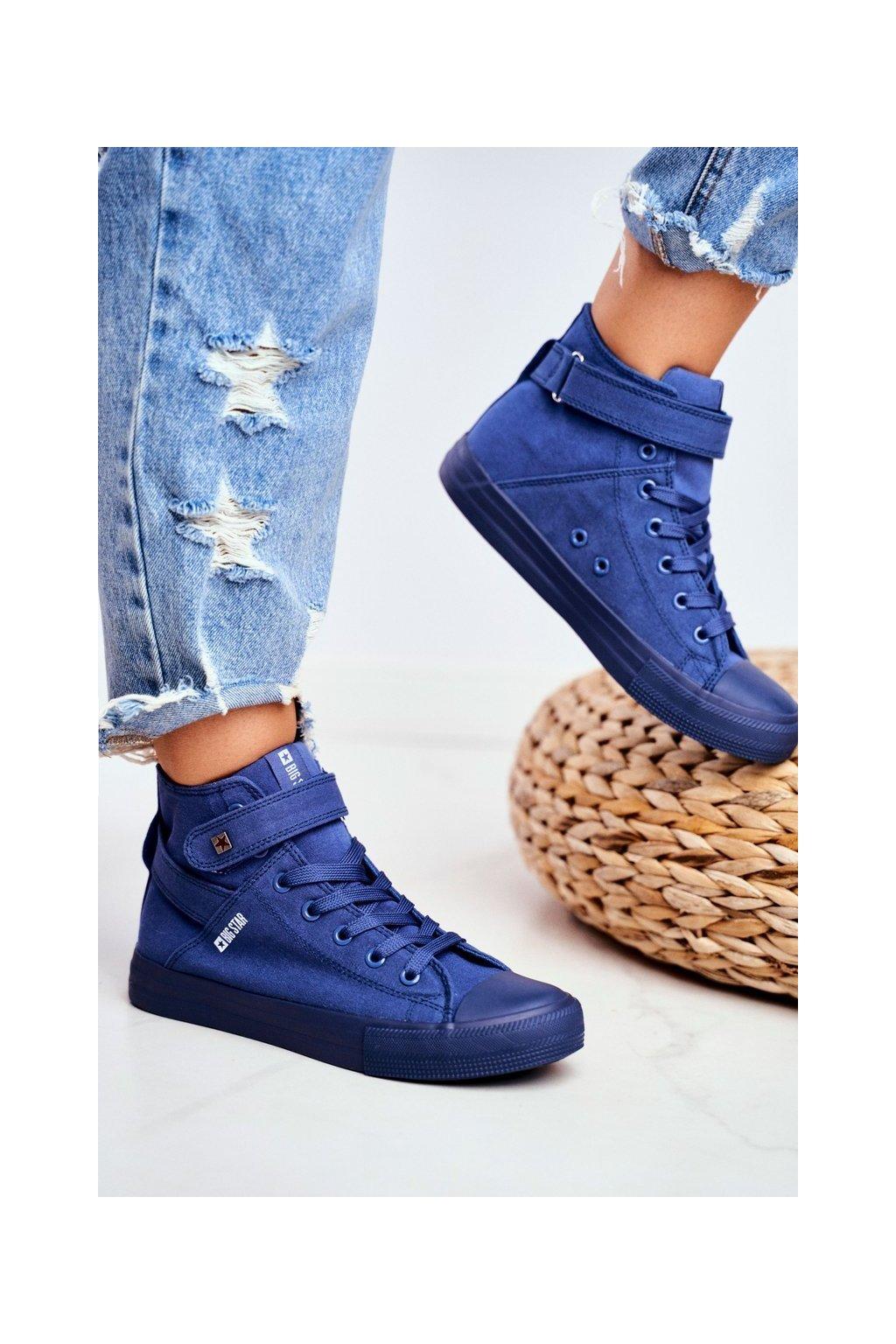 Dámske tenisky farba modrá kód obuvi FF274584 BLUE