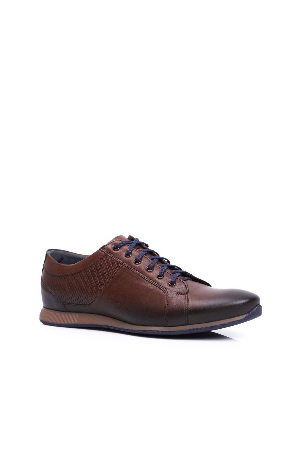Pánske poltopánky farba hnedá kód obuvi 1730 BROWN BC.17