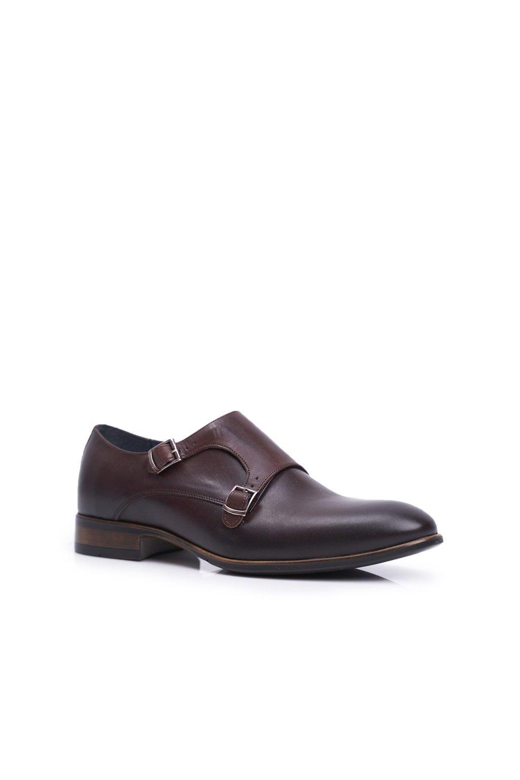 Pánske poltopánky farba hnedá kód obuvi 1720 D.BROWN BC.27