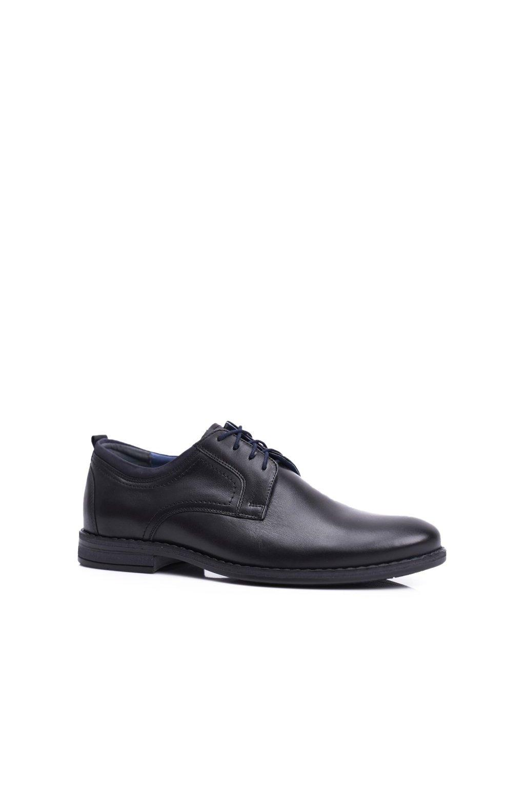 Pánske poltopánky farba čierna kód obuvi 1726 BLK D4