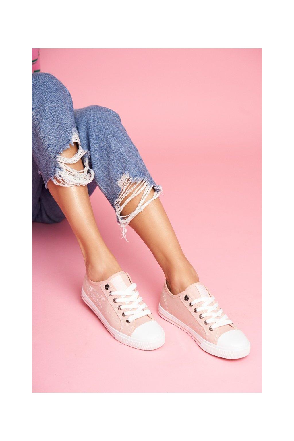 Dámske tenisky farba ružová kód obuvi FF274080 PINK