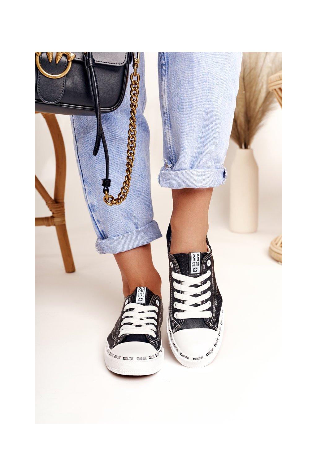 Dámske tenisky farba čierna kód obuvi FF274023 BLK