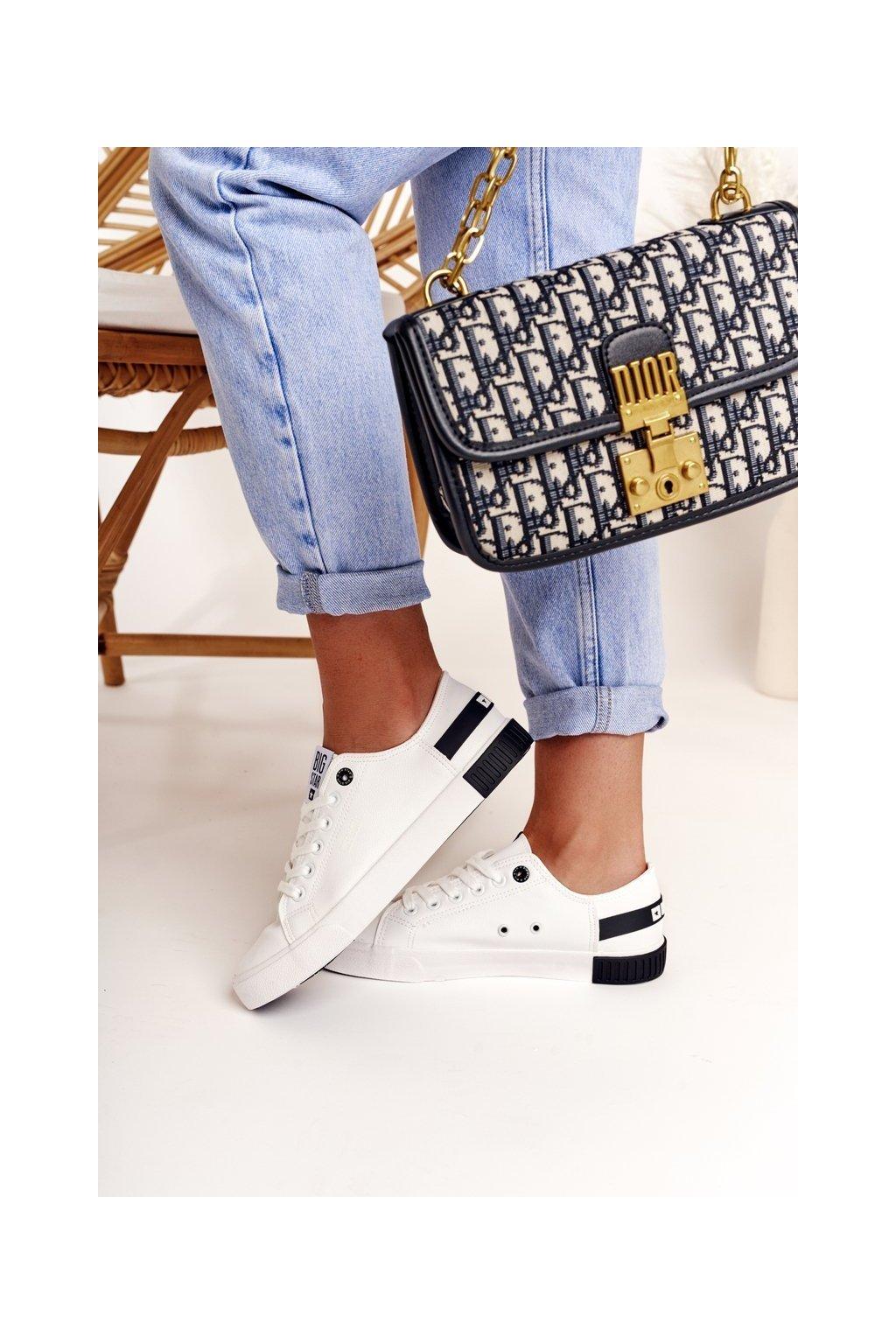 Dámske tenisky farba čierna kód obuvi FF274175 WHITE BLK