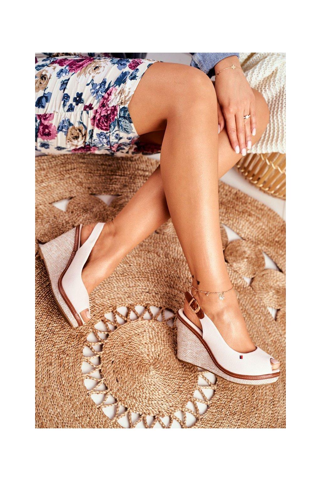 Dámske Sandále na platforme Béžové Tommy