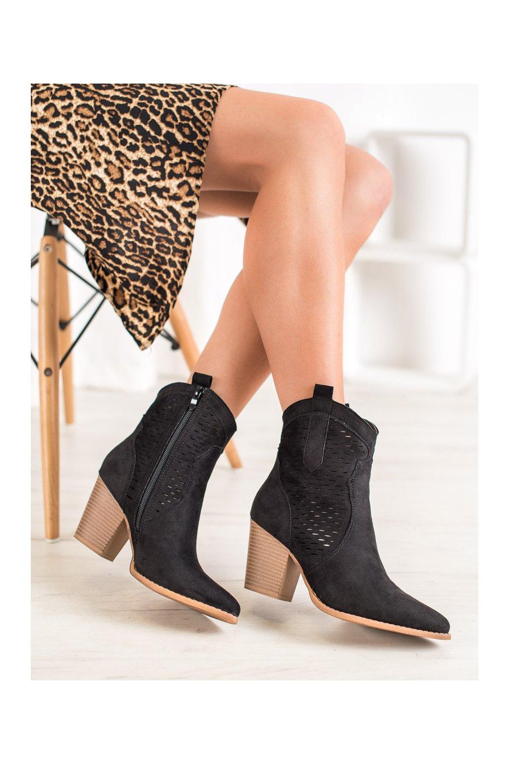 Čierne dámske topánky Seastar kod ZE05B