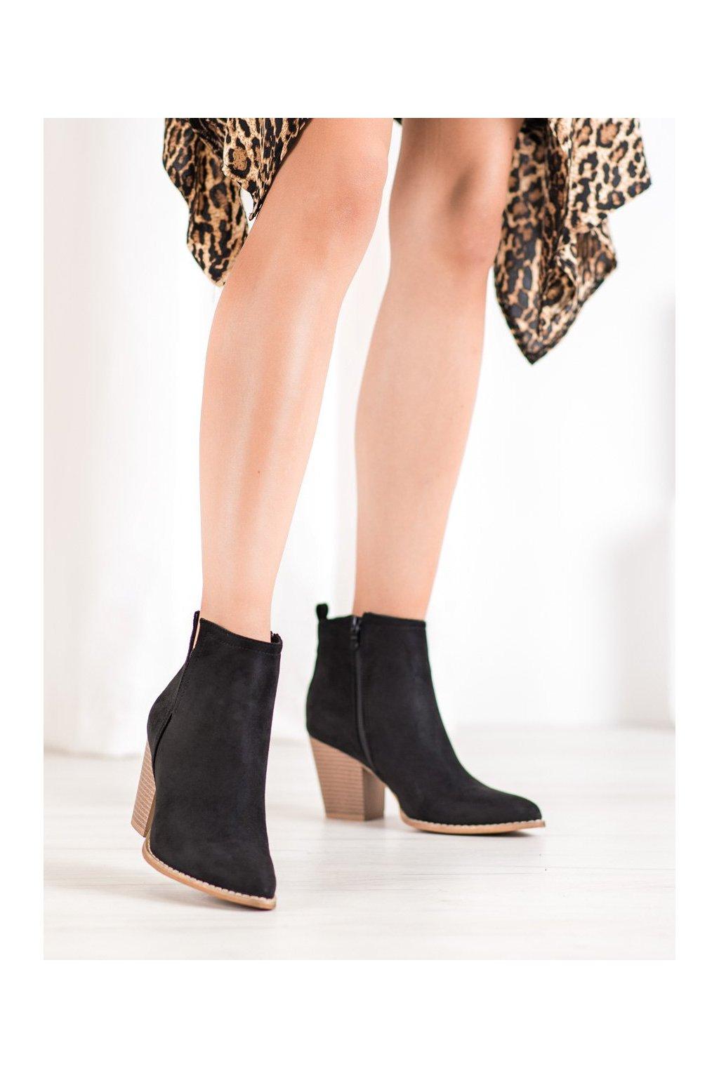 Čierne dámske topánky Seastar kod ZE03B