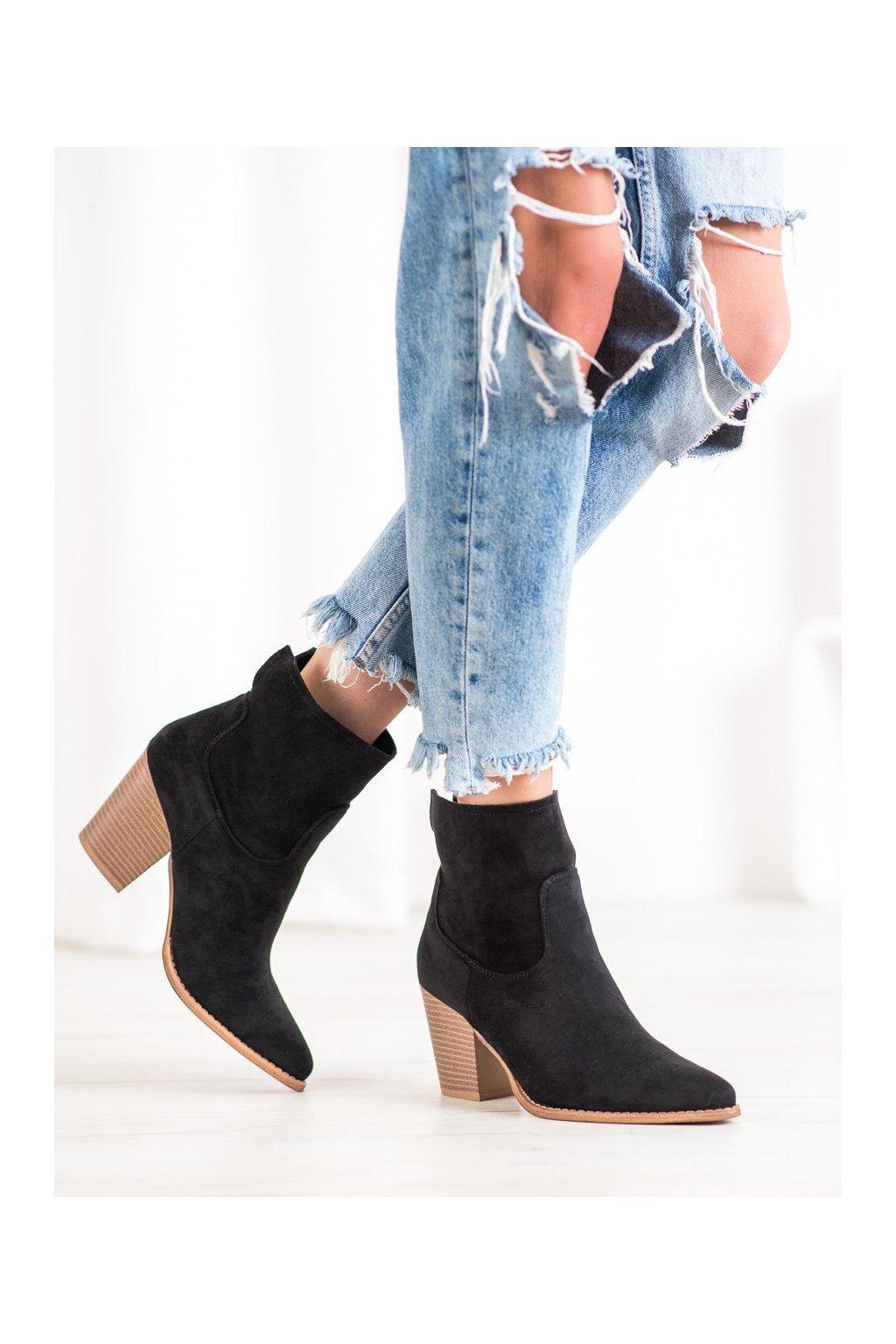 Čierne dámske topánky Seastar kod ZE02B