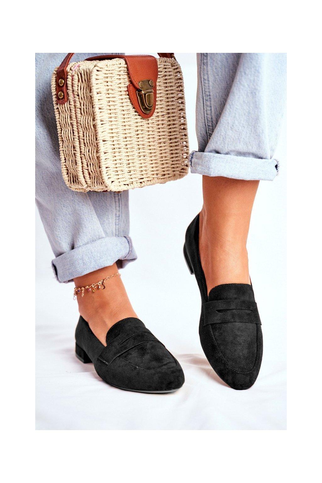 Dámske mokasíny farba čierna kód obuvi MK734 BLK MIC