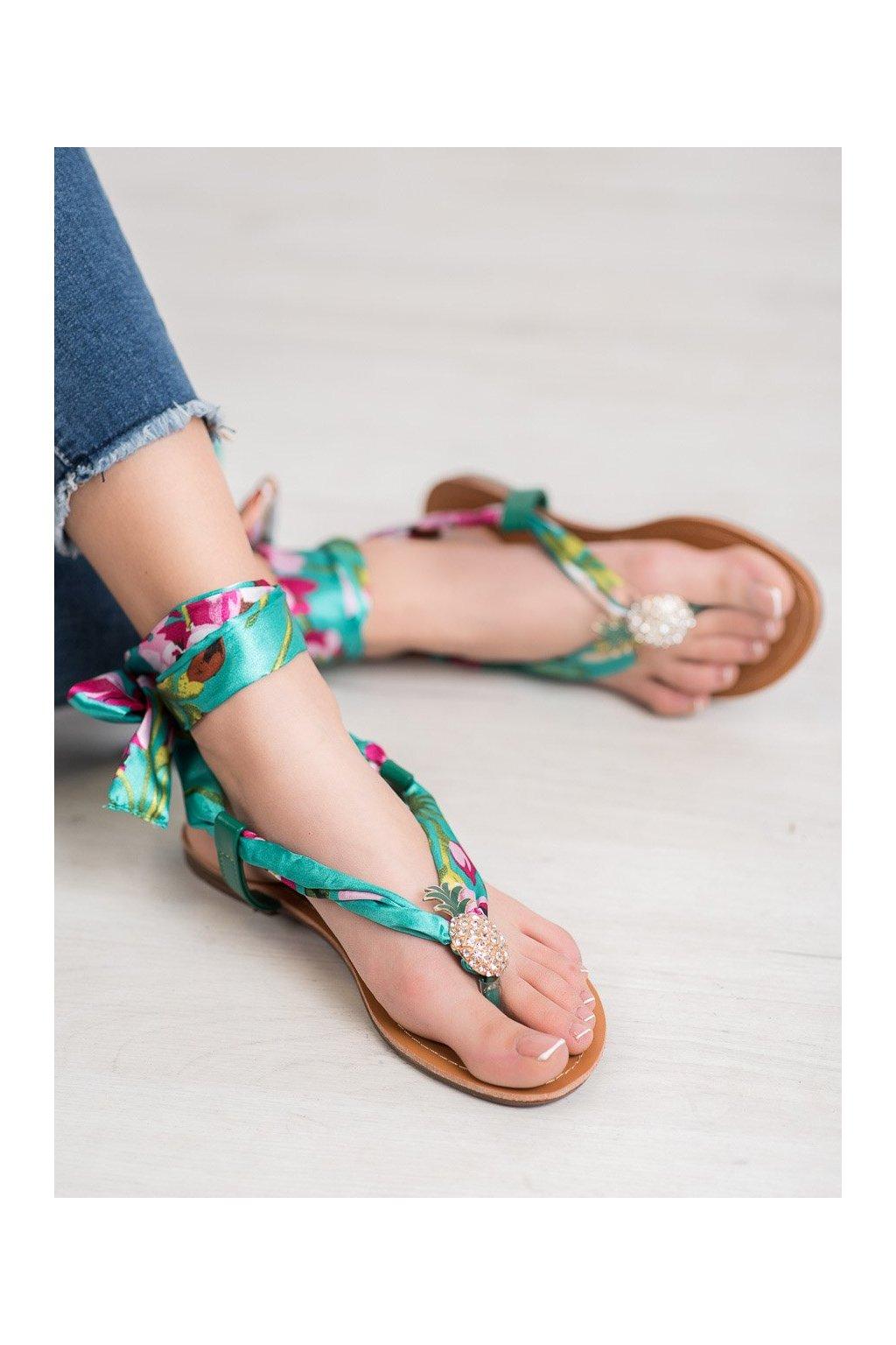Zelené sandále Shelovet kod PM12GR