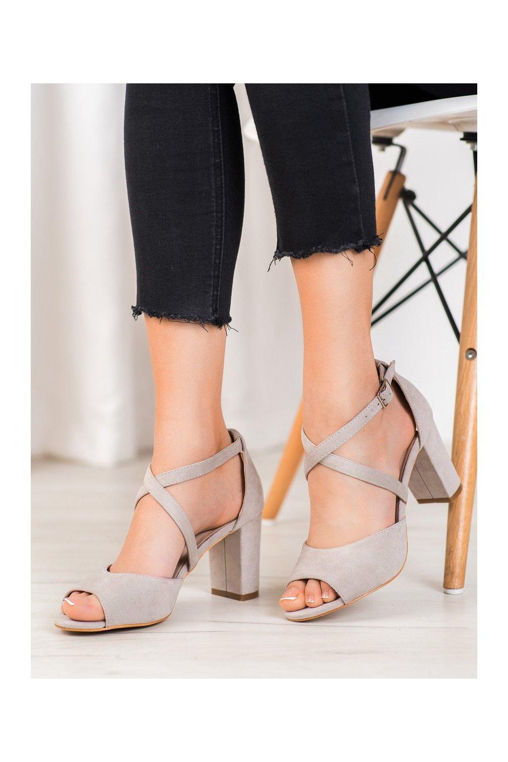 Sivé sandále Vinceza kod YQE20-17086G