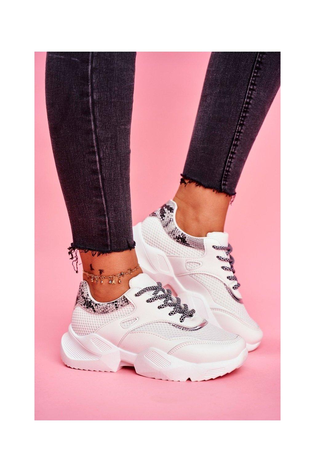 Dámske tenisky farba biela kód obuvi BL192 WHITE