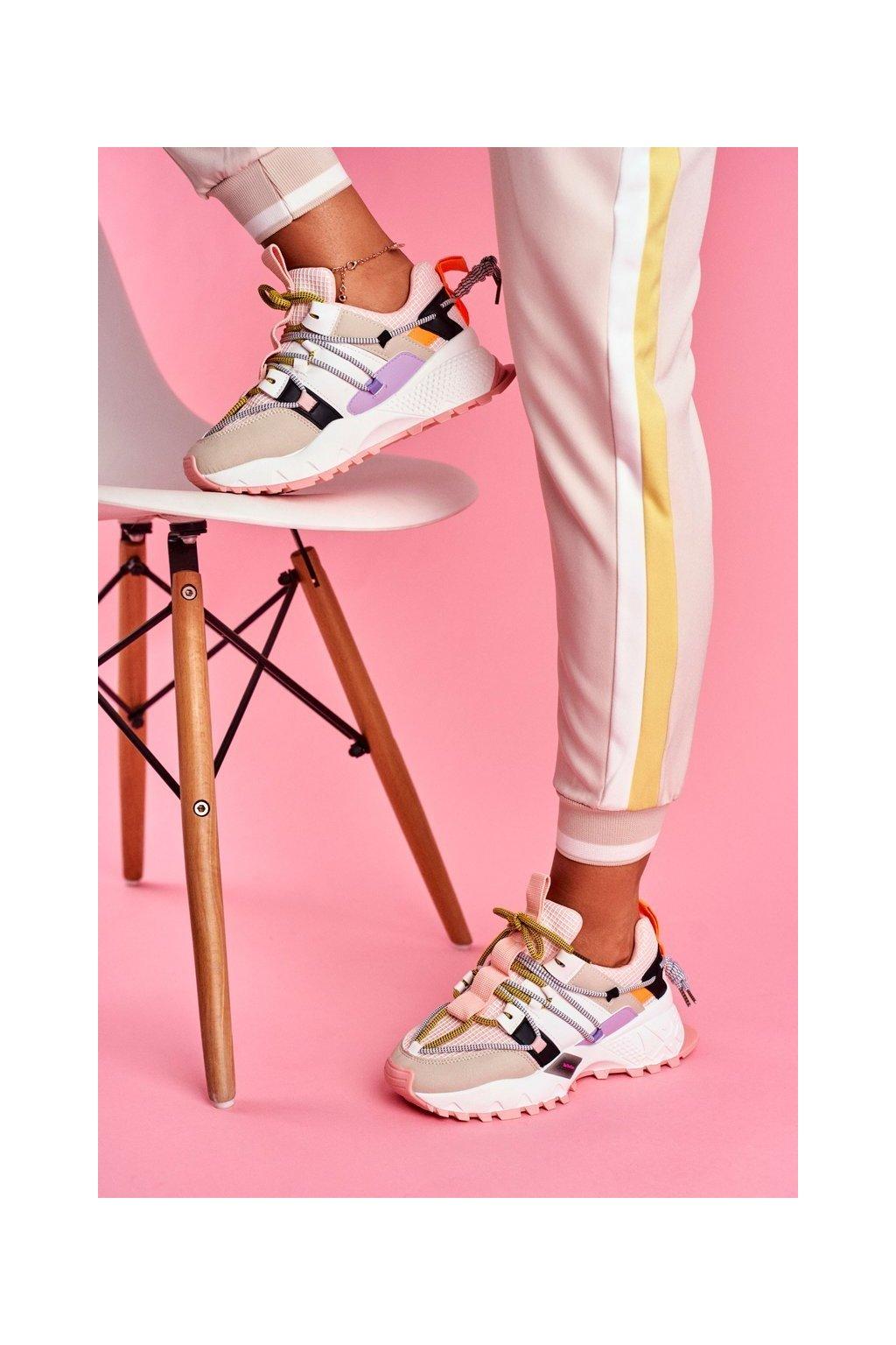 Dámska športová obuv Ružová LA91 Be One