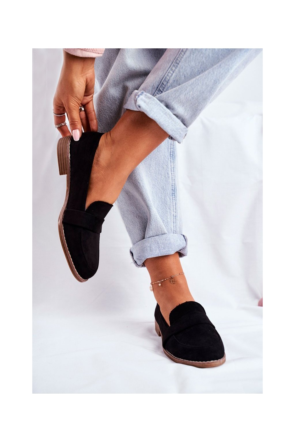 Dámske poltopánky farba čierna kód obuvi T366 BLK