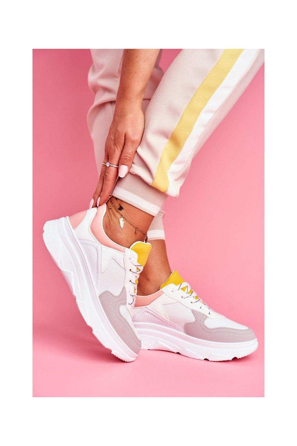 Dámska športová obuv Ružovo-biela Fresno