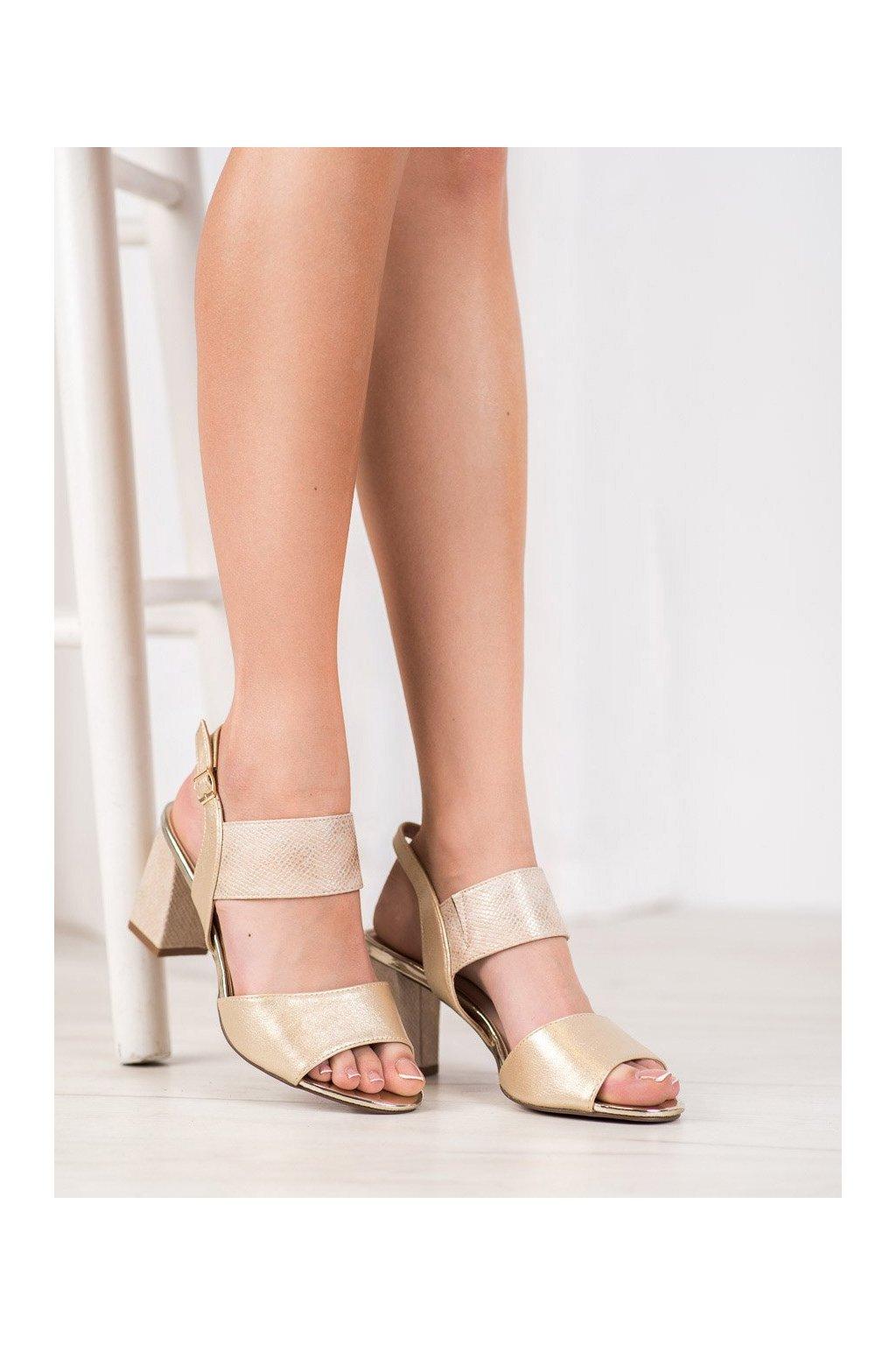 Zlaté sandále na podpätku Vinceza kod YQE20-17081GO