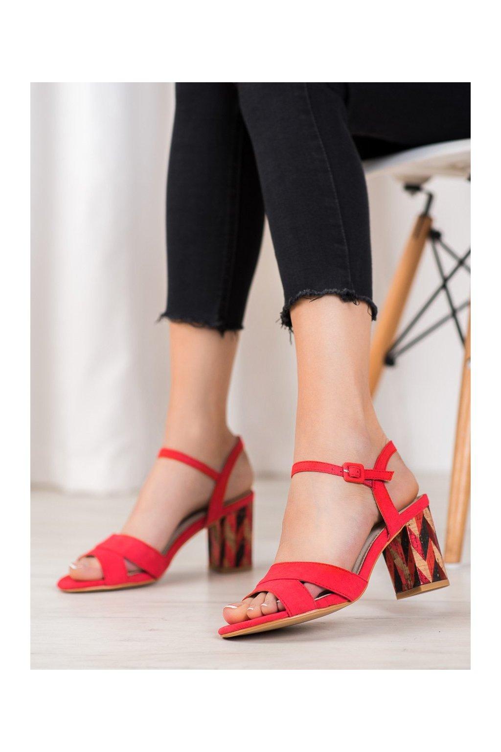 Červené sandále Filippo kod DS775/19R