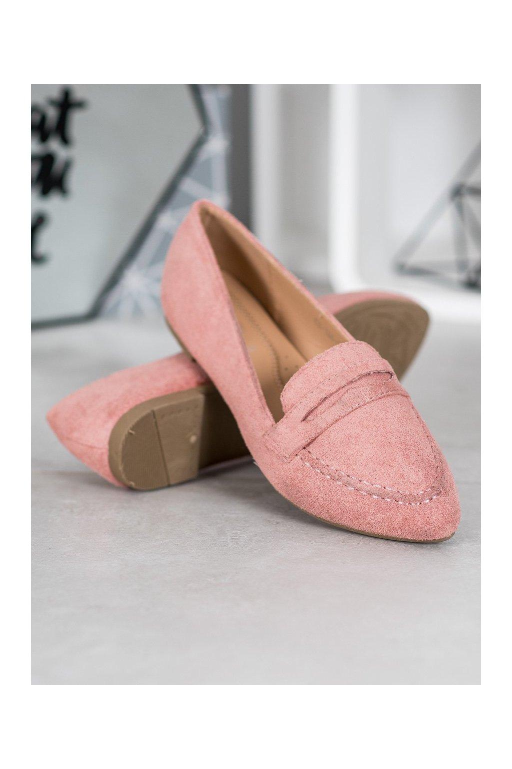 Ružové mokasíny Best shoes kod CH-1M6P