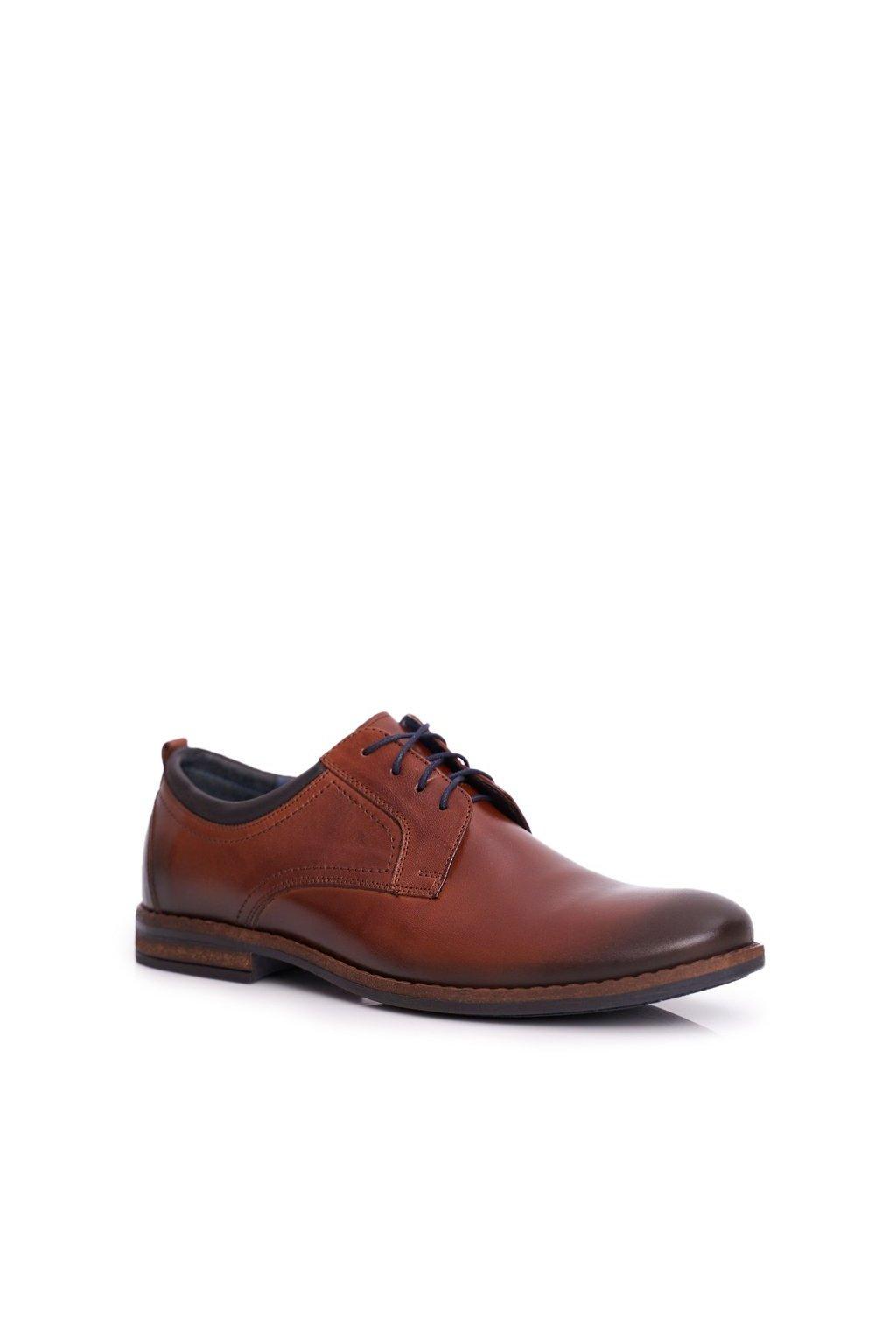 Pánske poltopánky farba hnedá kód obuvi 1726 BROWN BC.17