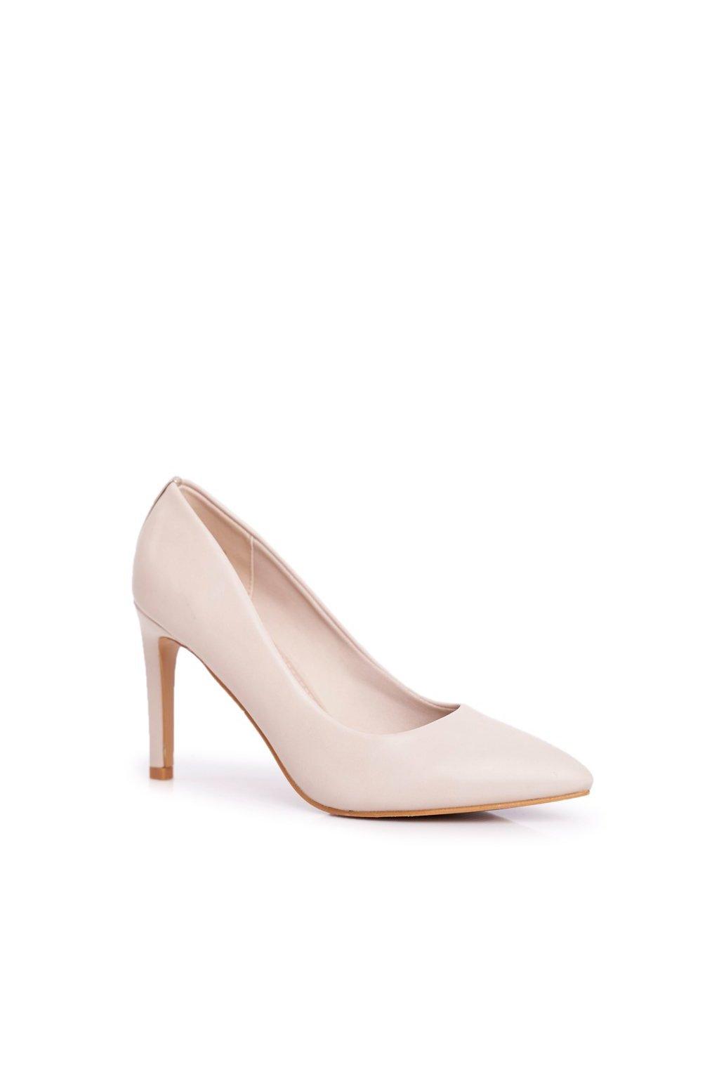 Dámske lodičky farba hnedá kód obuvi 20-20110 BEIGE