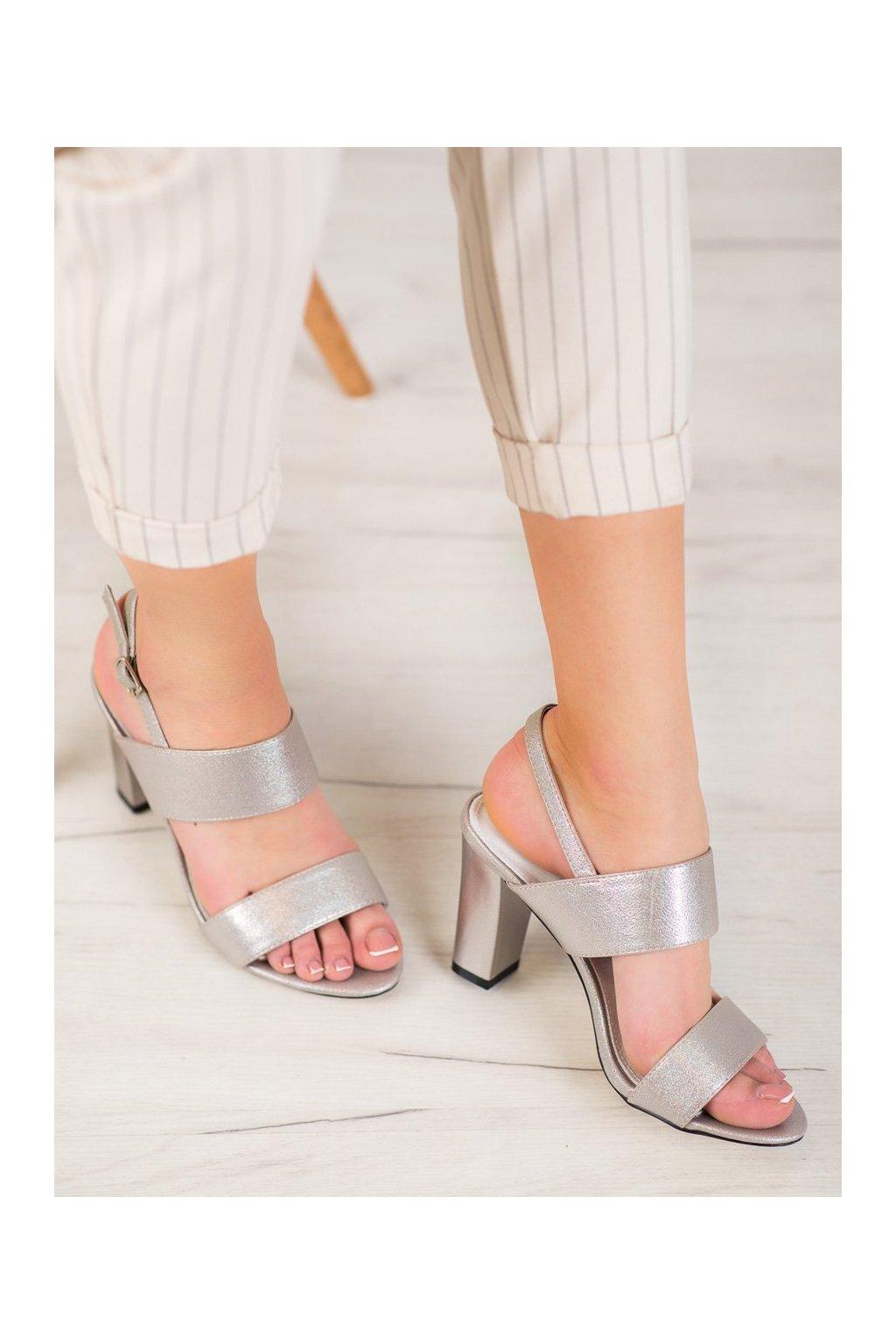 Sivé sandále na podpätku Goodin kod FL142C-T