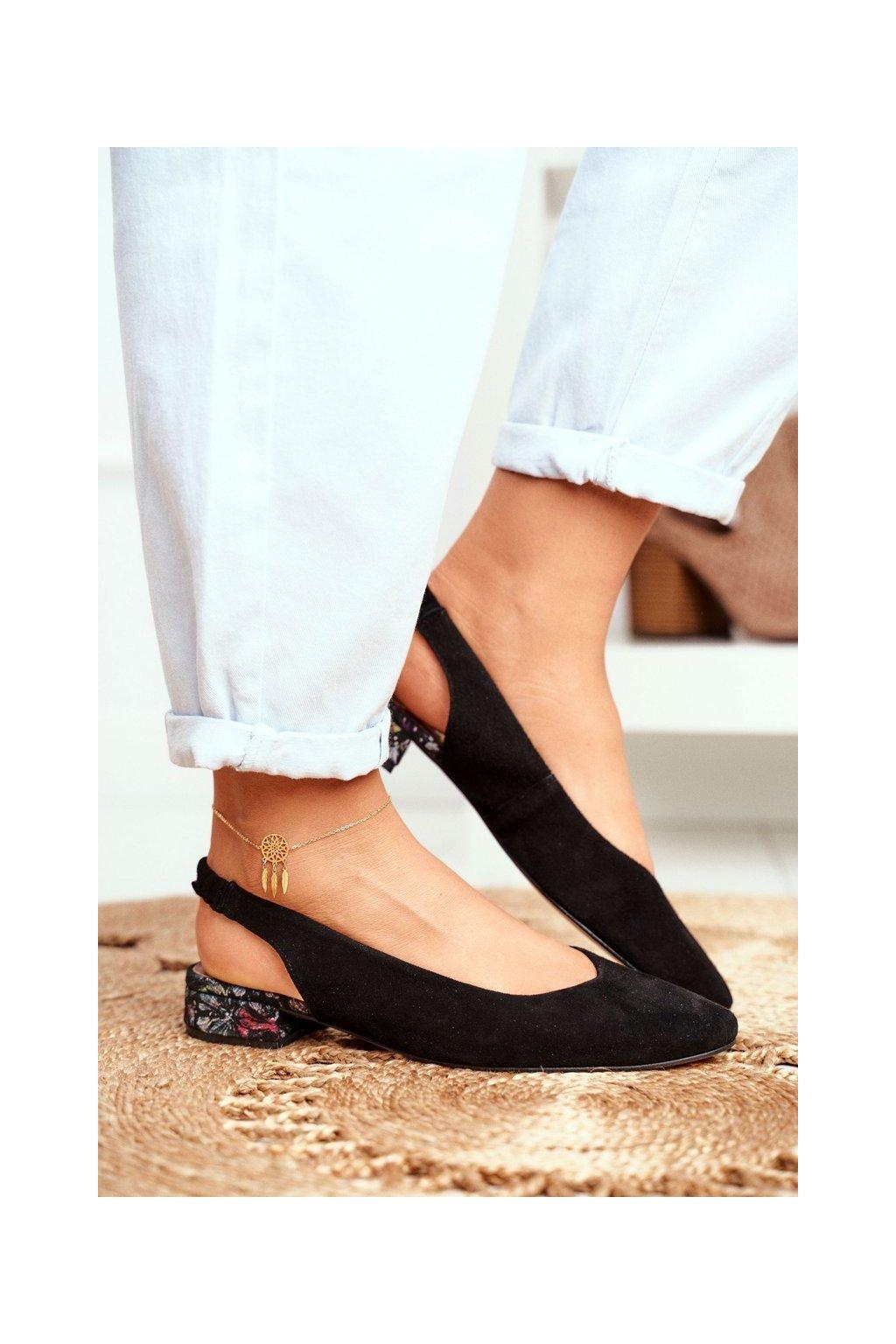 Dámske lodičky farba čierna kód obuvi 04482-01 BLK