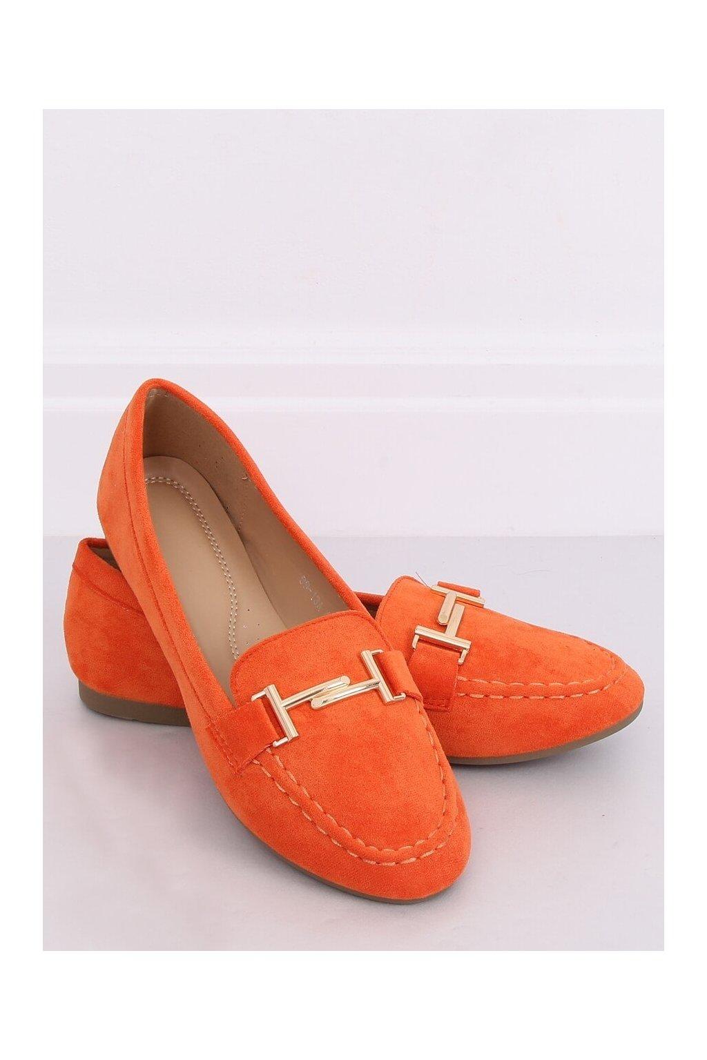 Dámske mokasíny oranžové 99-13A