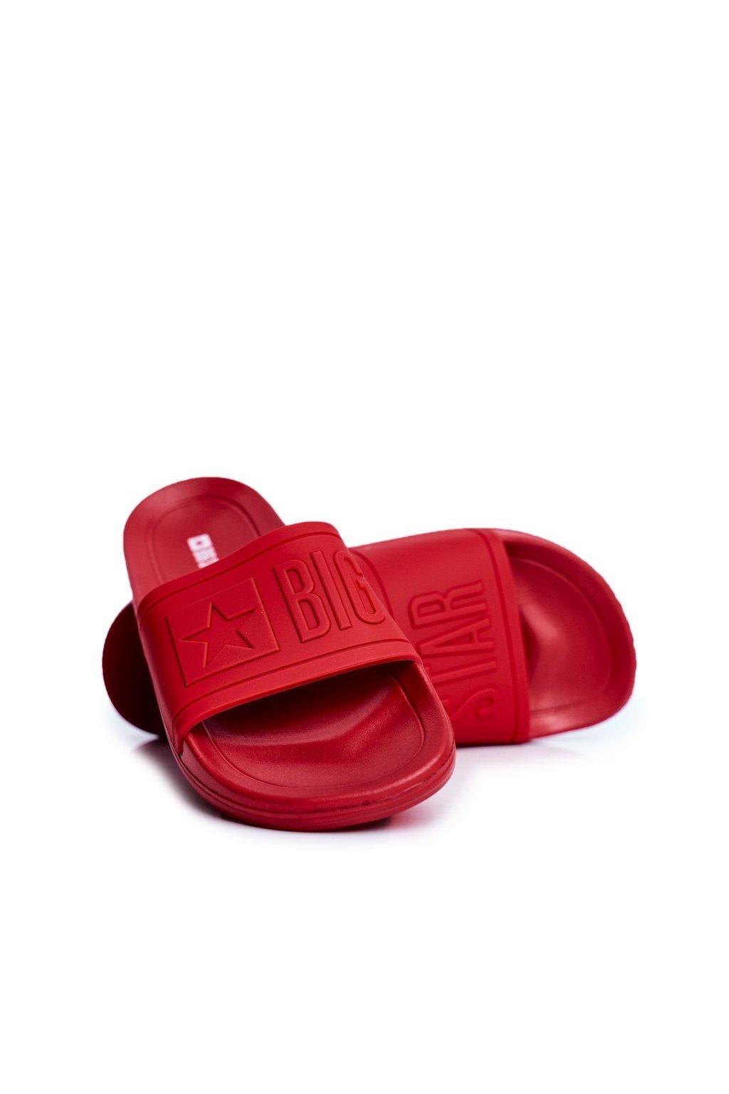 Pánske šľapky farba červená kód obuvi DD174689 RED