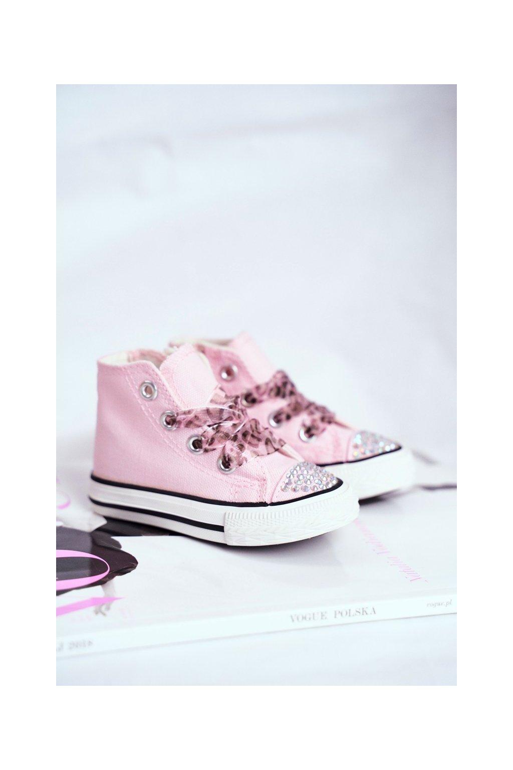 Detské tenisky farba ružová kód obuvi 873 PINK