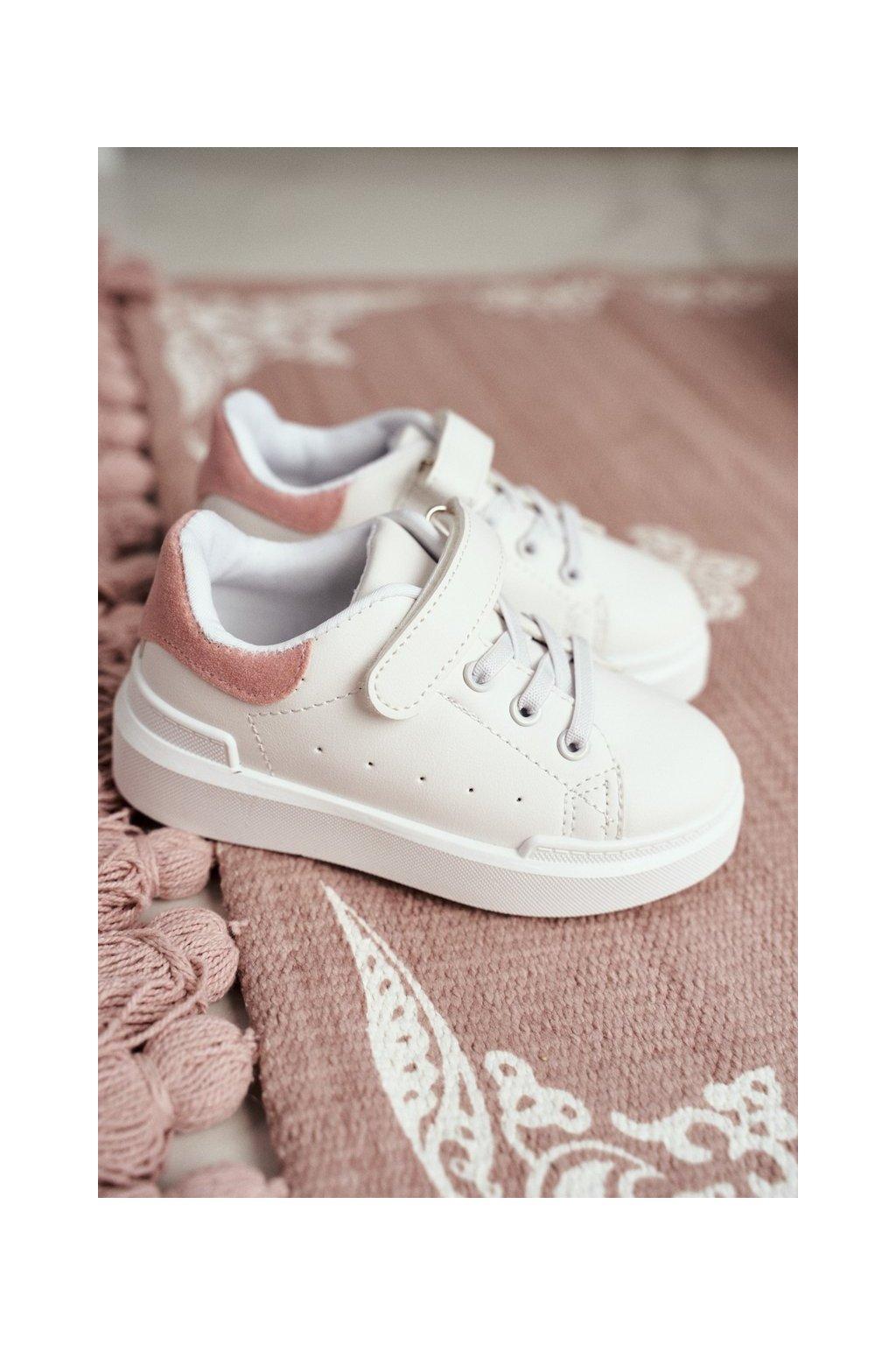 Detské tenisky farba ružová kód obuvi 876-A WHITE/PINK
