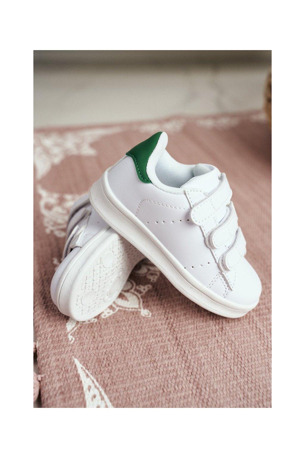 Detské tenisky farba biela kód obuvi 902-C WHITE/GREEN